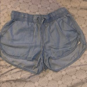 Soft and flowy Jean shorts